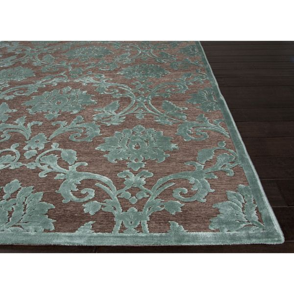 Versailles Damask Brown/ Green Area Rug (9u0027 X 12u0027)