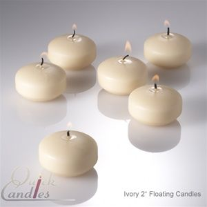 Richland Floating Candles 2 Ivory Set Of 72 With Images