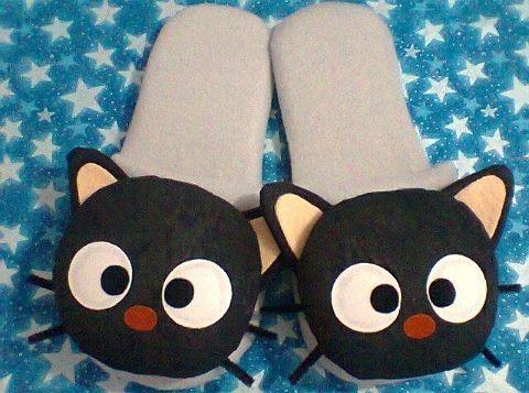 Pantuflas Chococat. Hecho a mano. Diseñamos lo que te gusta