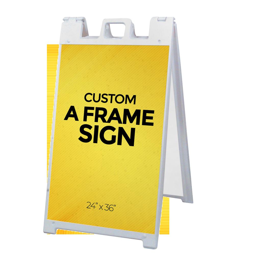 a frame custom signs