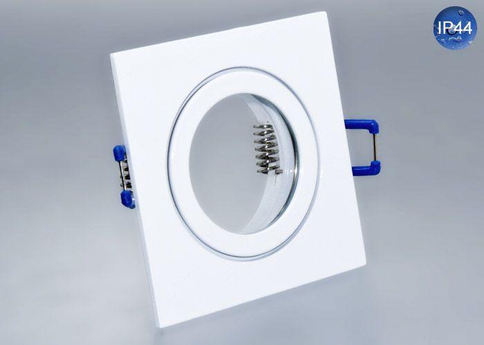 IP44 Aluminium Einbaustrahler Weiß Eckig Feuchtraum