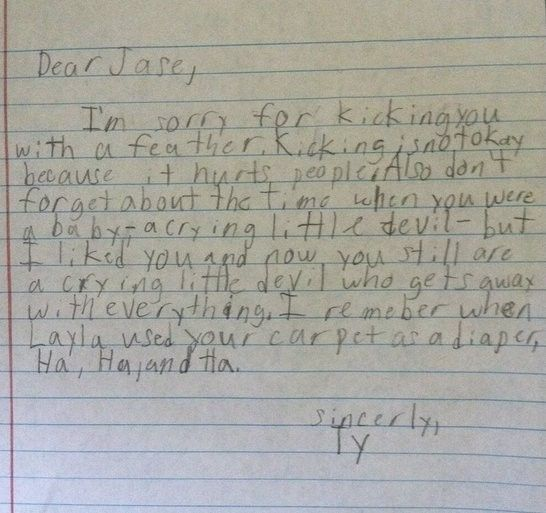 11 Hilarious Apology Notes From Kids Humor, Hilarious and Funny - breakup letters