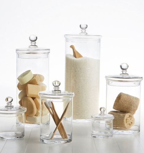 Genial Glass Canisters From Rejuvenation
