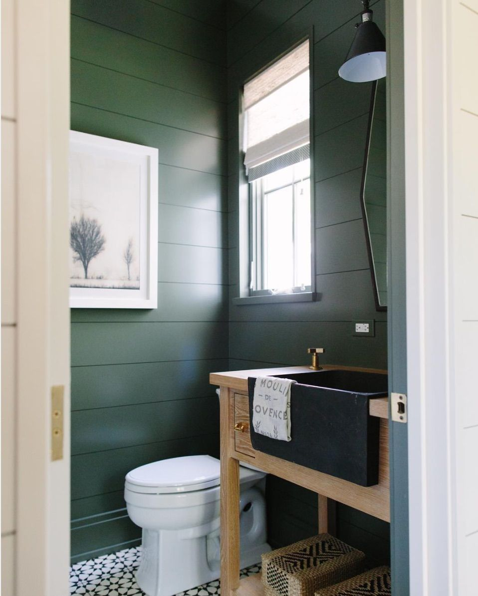 Trend For 2017 Dark Green Guest Bathroom Decor Green Bathroom Green Bathroom Paint