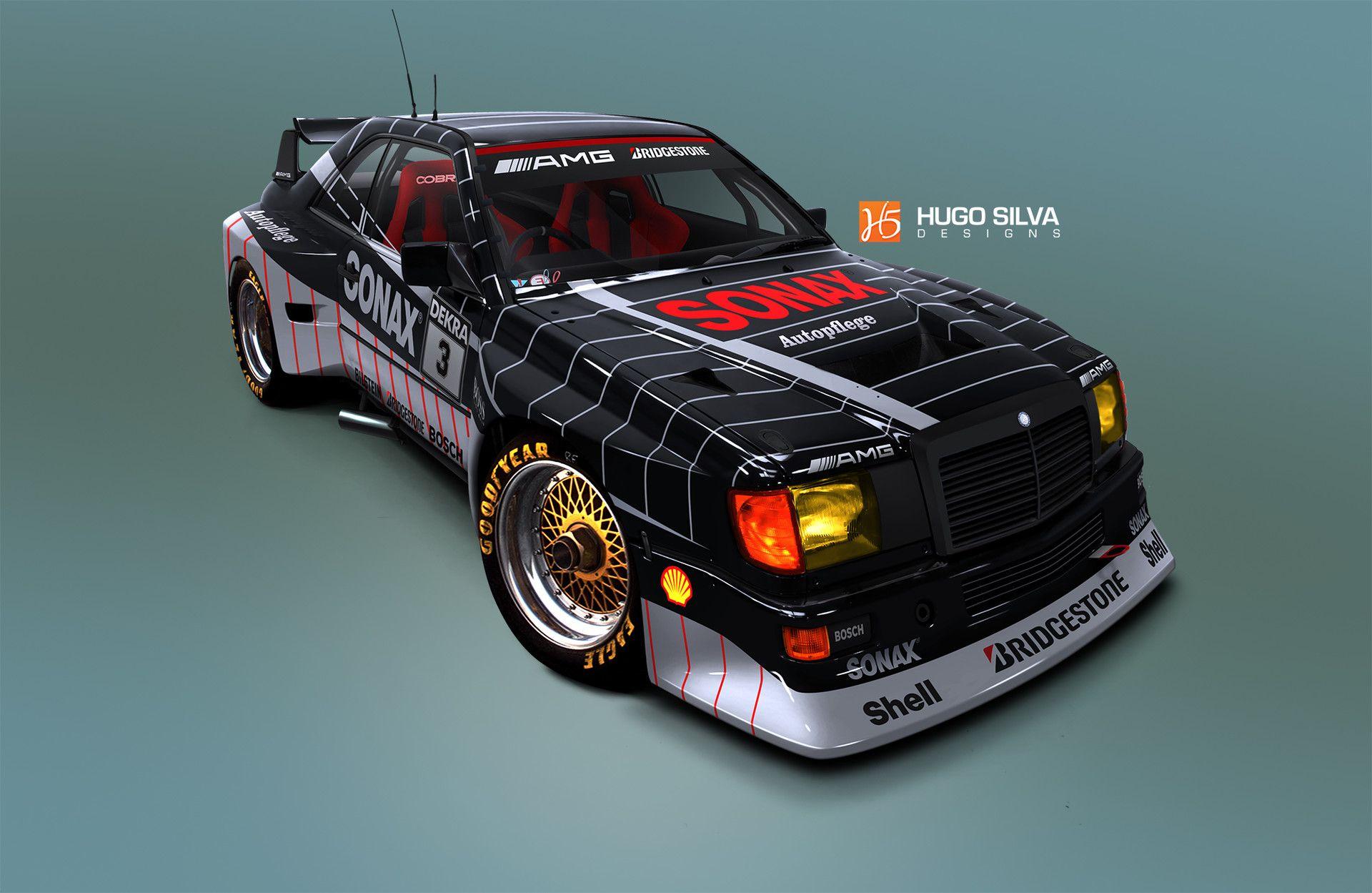 ArtStation - Mercedes Benz W124 e300 race car, Hugo Silva ...