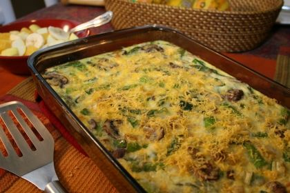 Asparagus and veggie breakfast casserole!