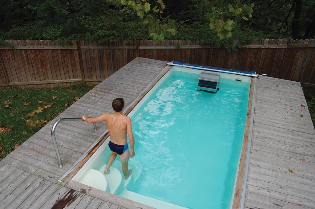Swim At Home With A Fiberglass Endless Pool Www Endlesspools Com Pool Cost Fiberglass Pool Cost Endless Pool