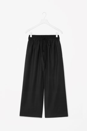 Oversized drawstring trousers