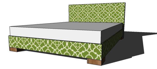 Modern Platform Bed Frame With Chunky Legs Bed Frame Diy