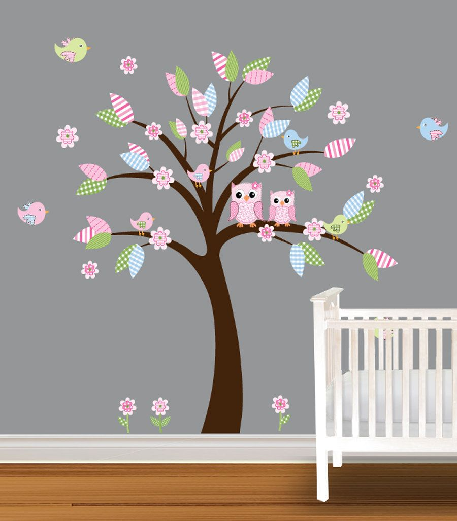 Tree Decal Childrens Nursery Daisy Owl Wall By NurseryDecals 9999