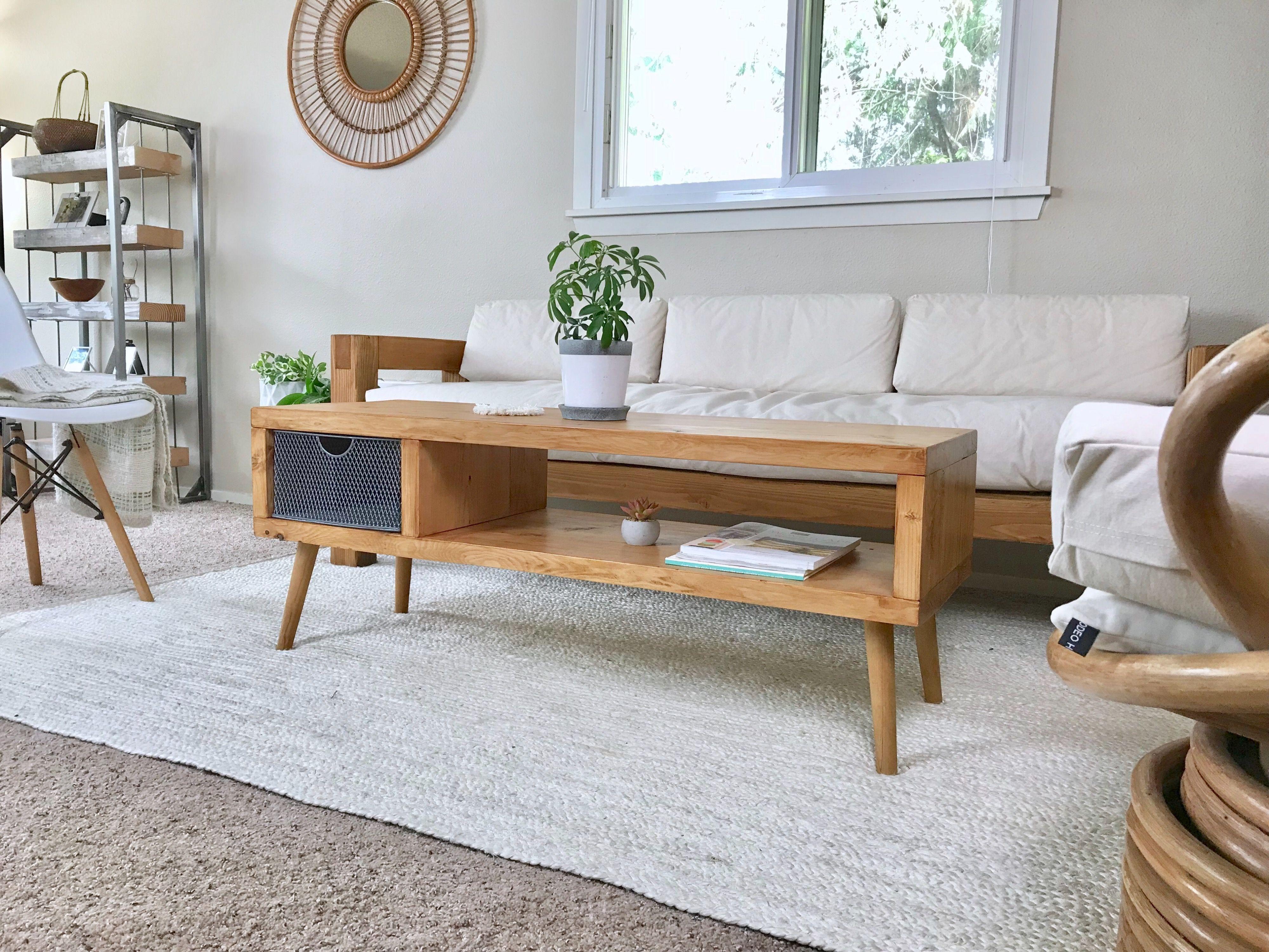 Stupendous Mid Century Modern Coffee Table With Storage An Ian Spiritservingveterans Wood Chair Design Ideas Spiritservingveteransorg