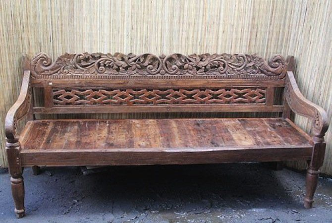 Beautiful Benches Abound At Design Mix Furniture In Los Angeles, Like This  Carved Wood Balinese
