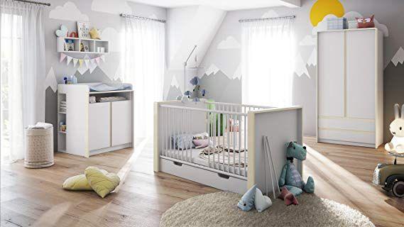 Babyzimmer Kinderzimmer Komplett Set Nandini Set 1 in Weiß