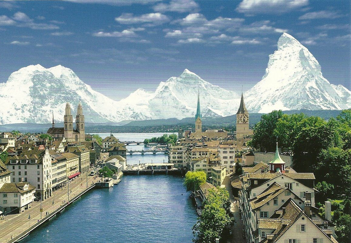 Zurich, the largest city in Switzerland, ranked among the highest quality of life cities in the world!