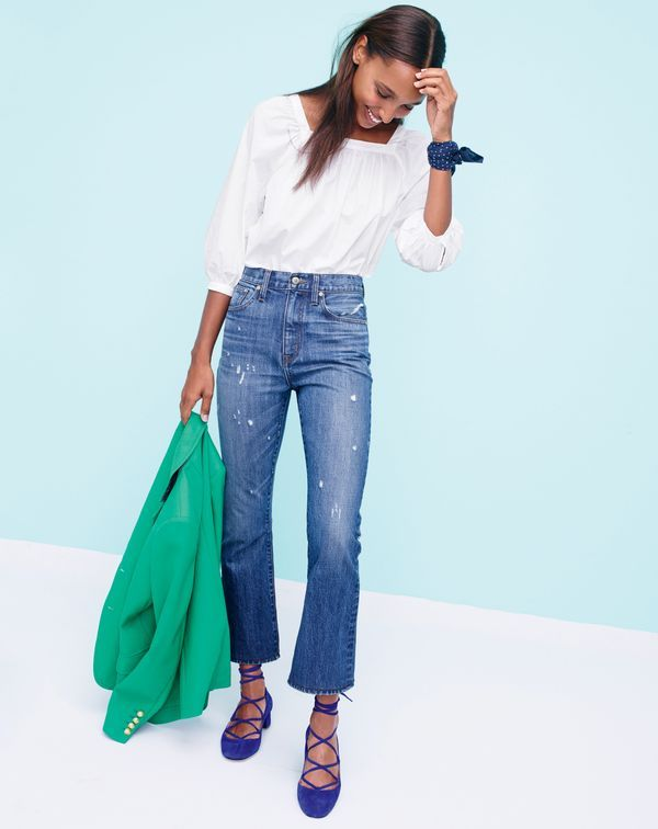 Introducing the J.Crew women s Penny top. File this square-neck peasant top  under critical wardrobe additions. b0eb54b116