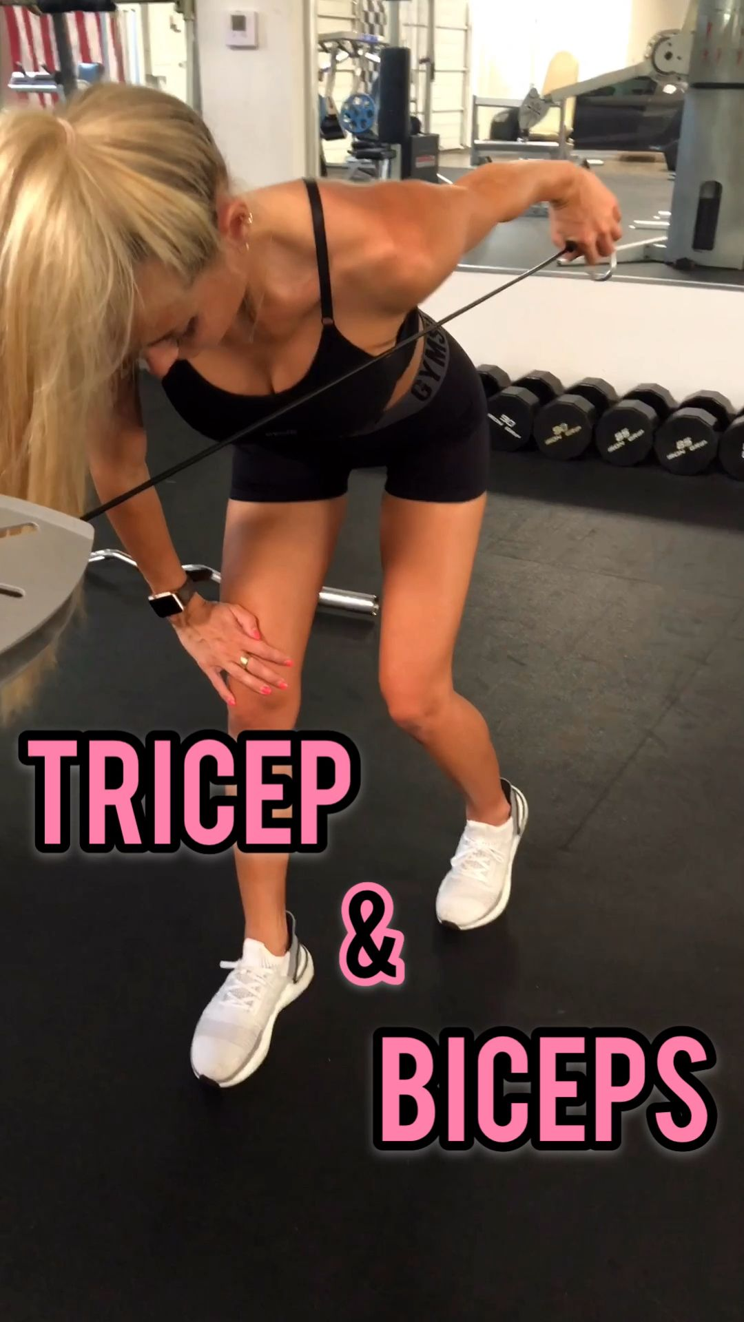 Bicep and Tricep Workout- Follow @ambrymehr IG for free workouts!