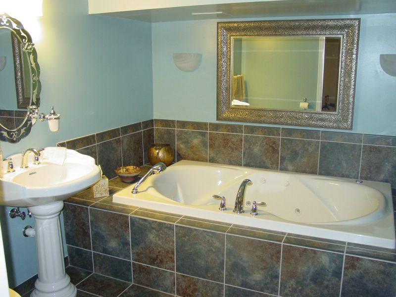 drop in soaking tub with porcelain tile | home | pinterest | bath