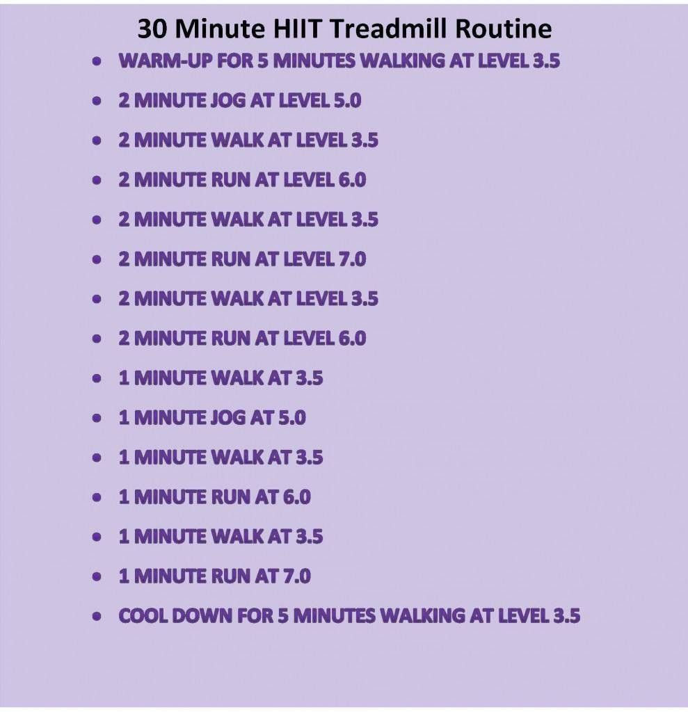 hiit cardio workout - Google Search   Hiit treadmill