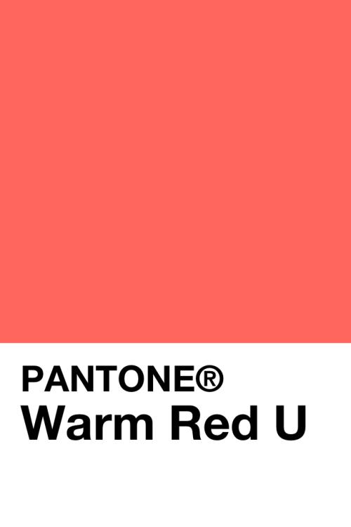 Panatone Color Warm Red U