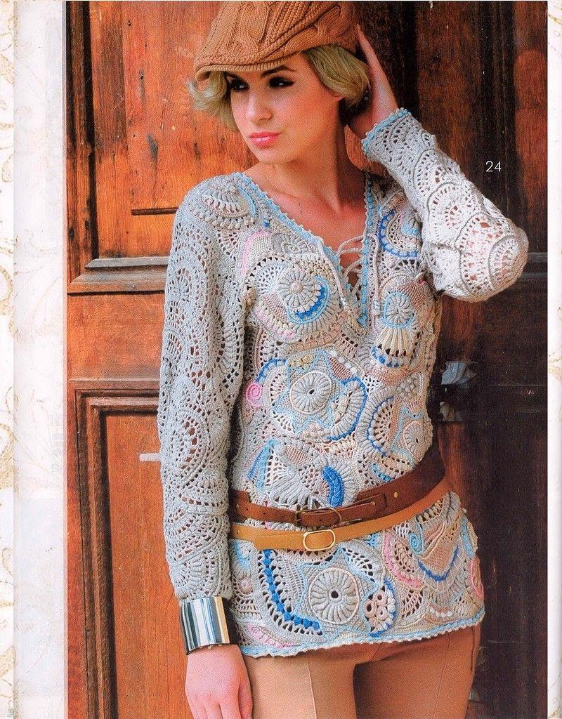 журнал Mод вязание 2 32015 фриформ журнал мод вязание
