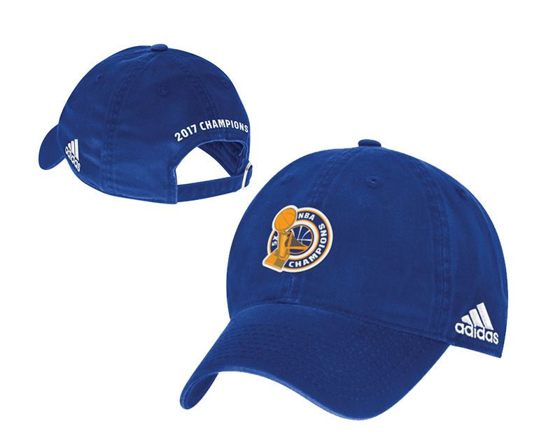 Men s   Women s Golden State Warriors Adidas Blue 2017 NBA Finals Champions  Unstructured Adjustable Hat f35763b0c5