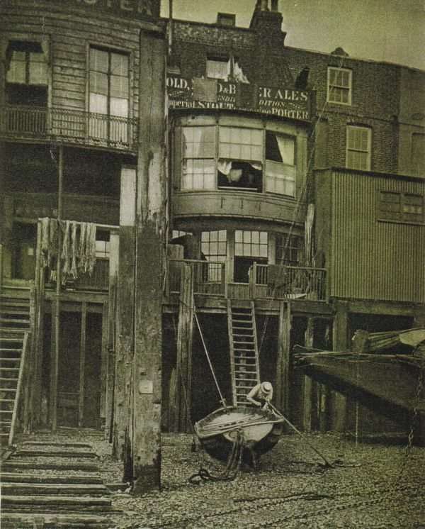 The Grapes, Limehouse. An historic riverside pub dating from 1585 and still in business today.