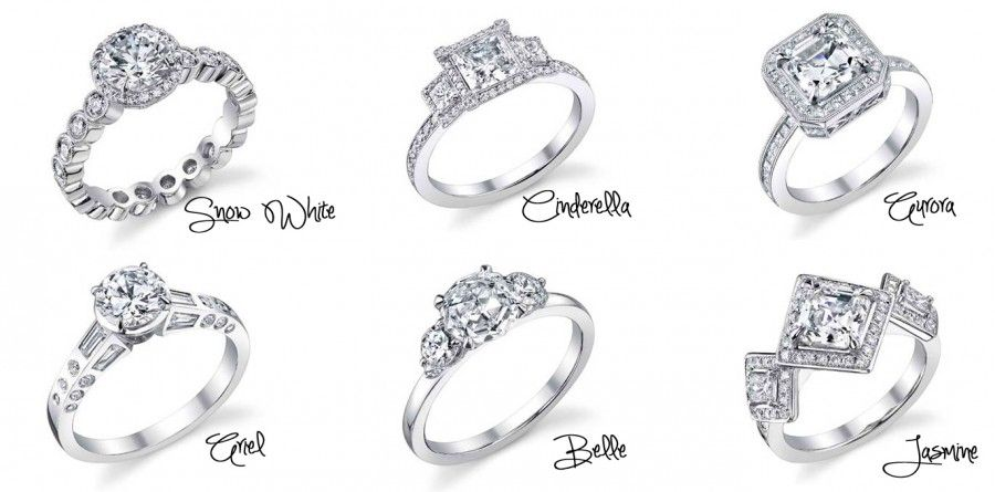 Disney inspired wedding rings Ill take Snow White the