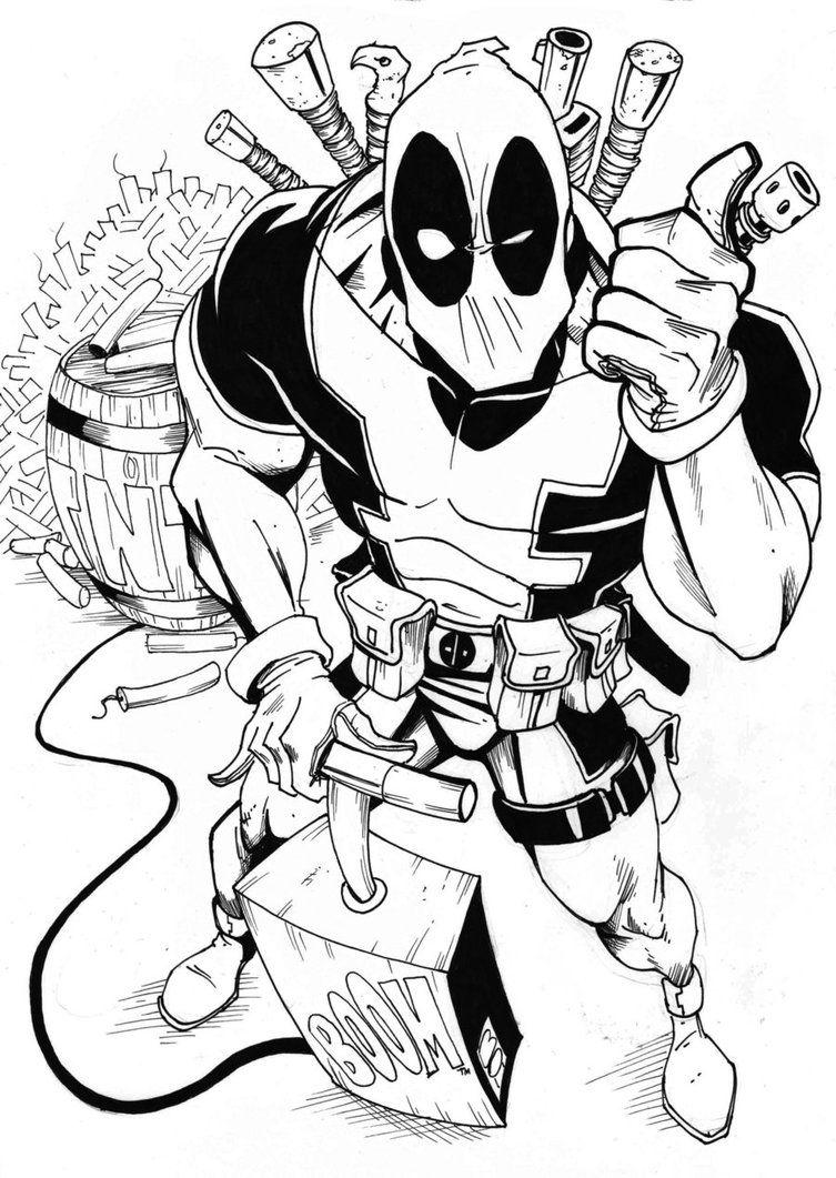 O Deadpool Deadpool Art Deadpool Tattoo Art Marvel Drawings