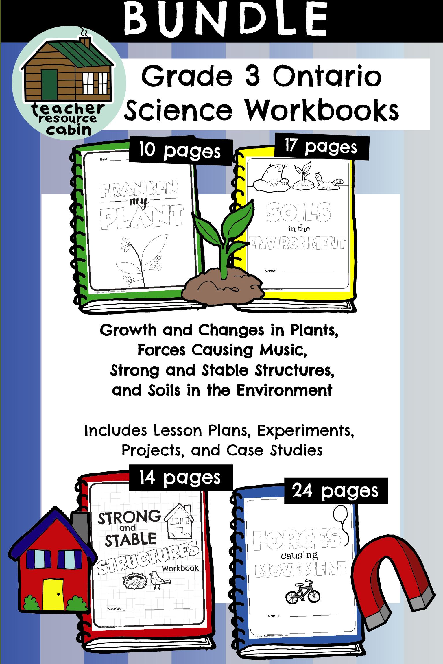 Bundle Grade 3 Science Workbooks Ontario Curriculum In