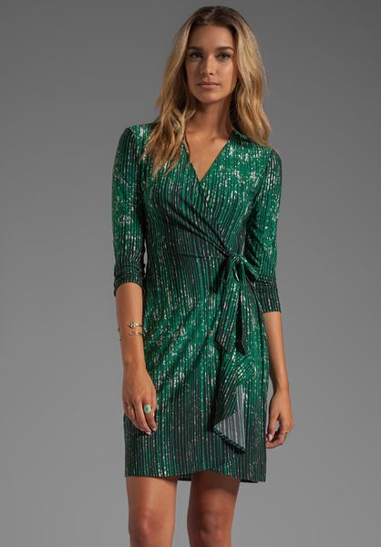 75e85c93d147 BCBGMAXAZRIA Adele Wrap Dress in Green - Lyst £127 | Stylish I Chic ...