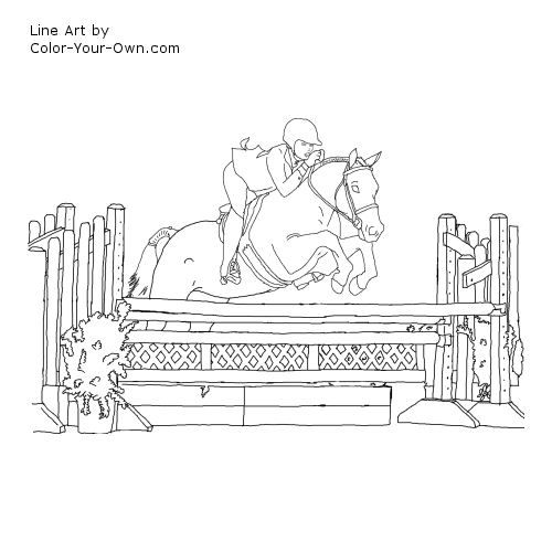 Hunter Show Pony Coloring Page Horse Coloring Pages Horse Coloring Animal Coloring Pages