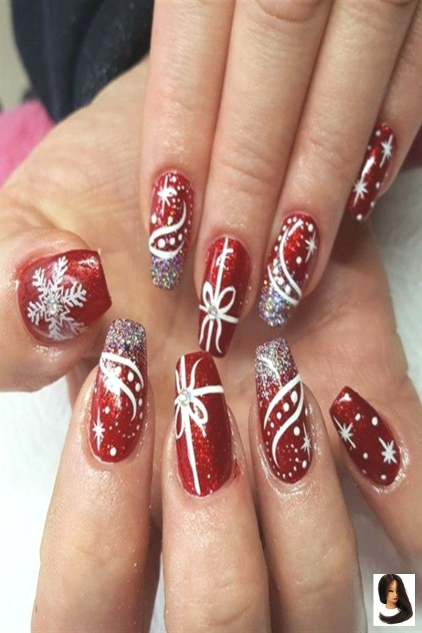 #Art #christmas Nails #festliche #für #Ideen #Nail #rote #Über #Weihnachten 30  Festive Red Nail Art Ideas For Christmas        #Christmas_nails #red_nail_art #holiday_nails #nail_art_designs #winter_nails #holidaynails