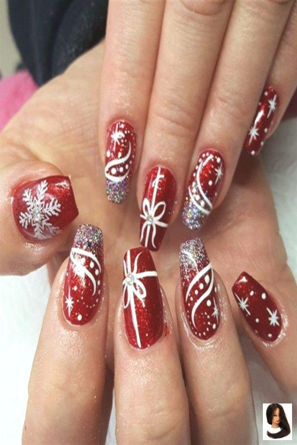 #Art #christmas Nails #festliche #für #Ideen #Nail #rote #Über #Weihnachten 30  Festive Red Nail Art Ideas For Christmas        #Christmas_nails #red_nail_art #holiday_nails #nail_art_designs #winter_nails #holidaynails