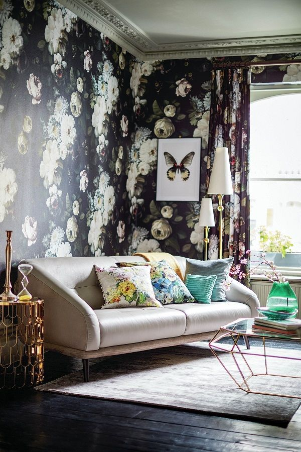 Truly, Madly, Deeply Floral, for Homes this Autumn Dark