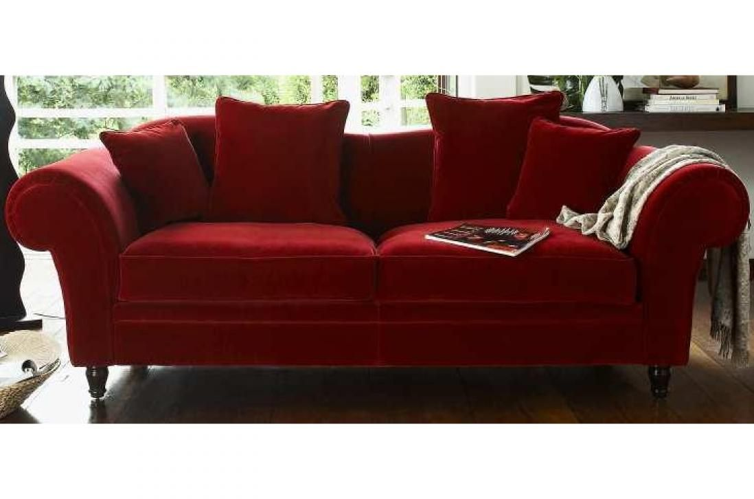 Canape Convertible Velours Rouge