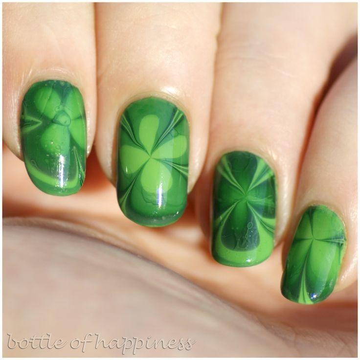 slippy st. patrick\'s day green clover nails for 2015 - minion ideas ...