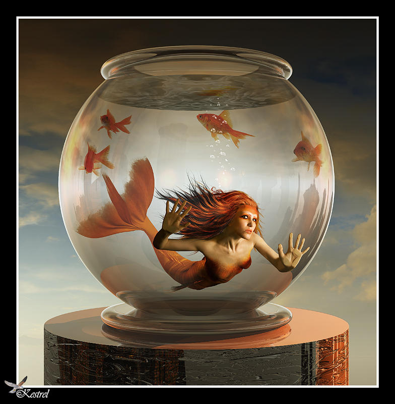 Goldfish Mermaid By Ryo Says Meow On Deviantart In 2021 Fish Art Unusual Pictures Fantasy Mermaids