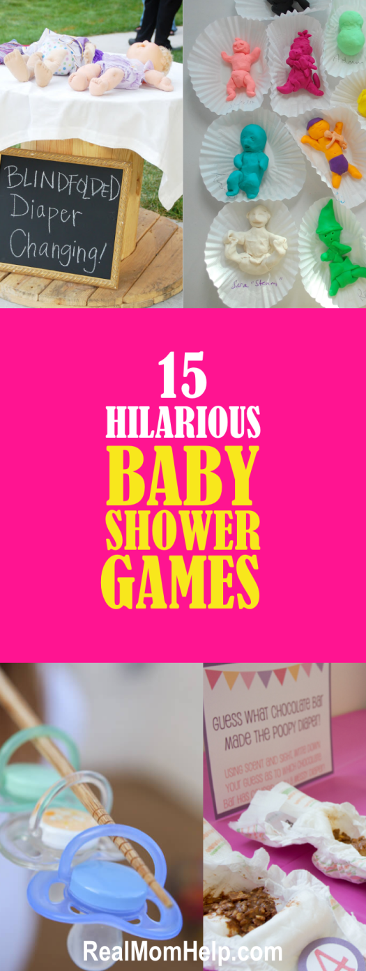 15 Hilarious Baby Shower Games Baby Shower Games Babies And
