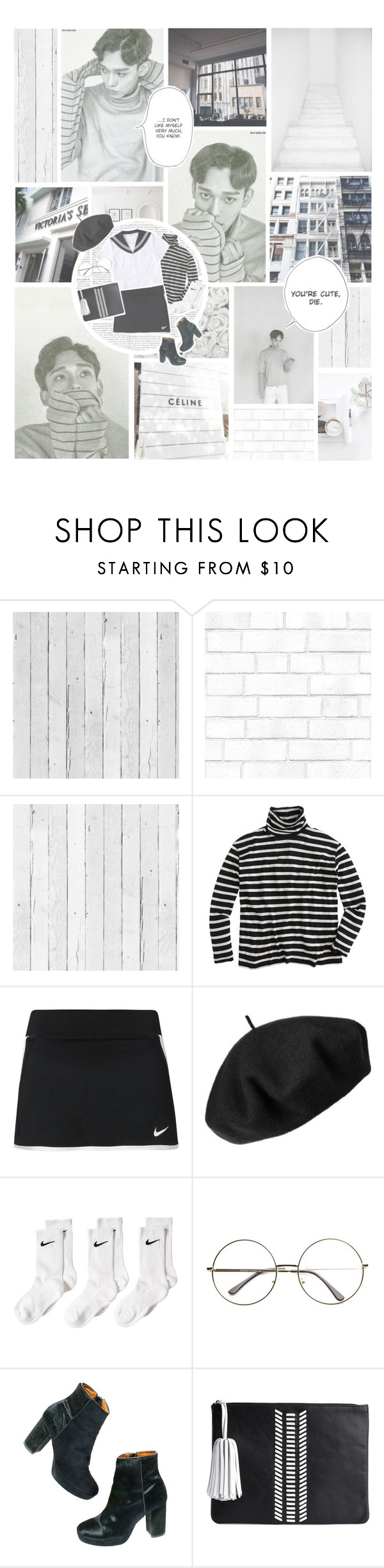 """KELLY"" by lovehelena ❤ liked on Polyvore featuring Piet Hein Eek, AG Adriano Goldschmied, NLXL, J.Crew, NIKE, Betmar, Madewell and Ela"