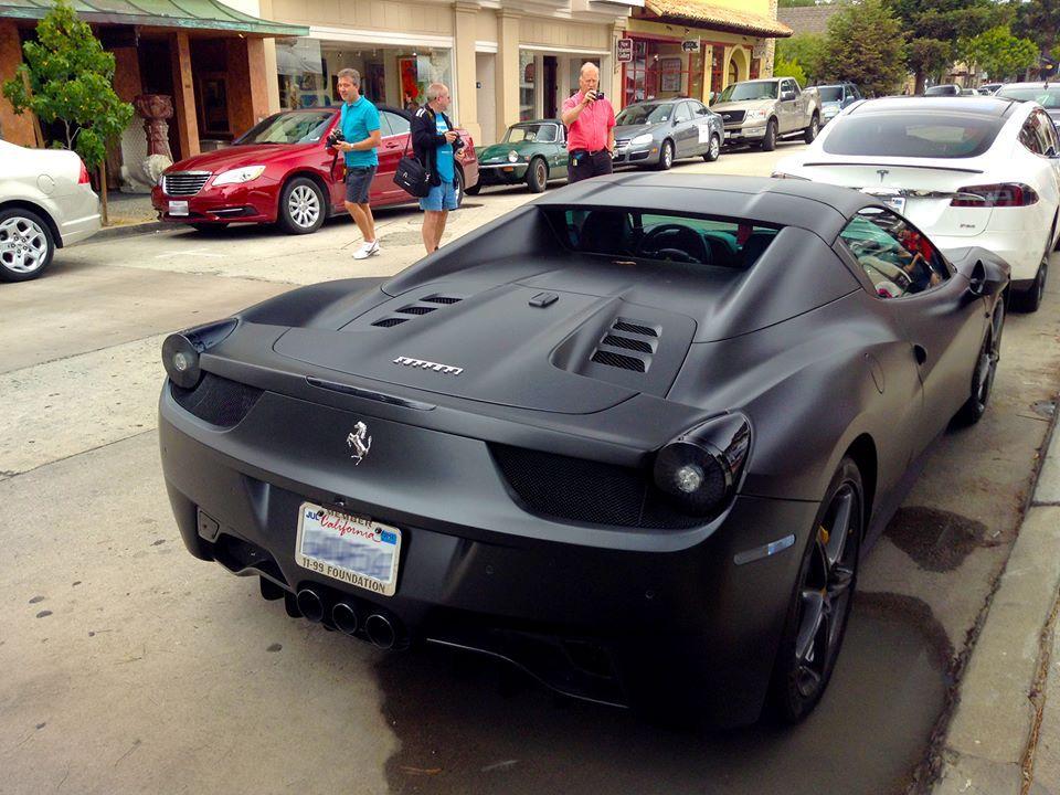 Matte Black Ferrari 458 Spider Ferrari 458