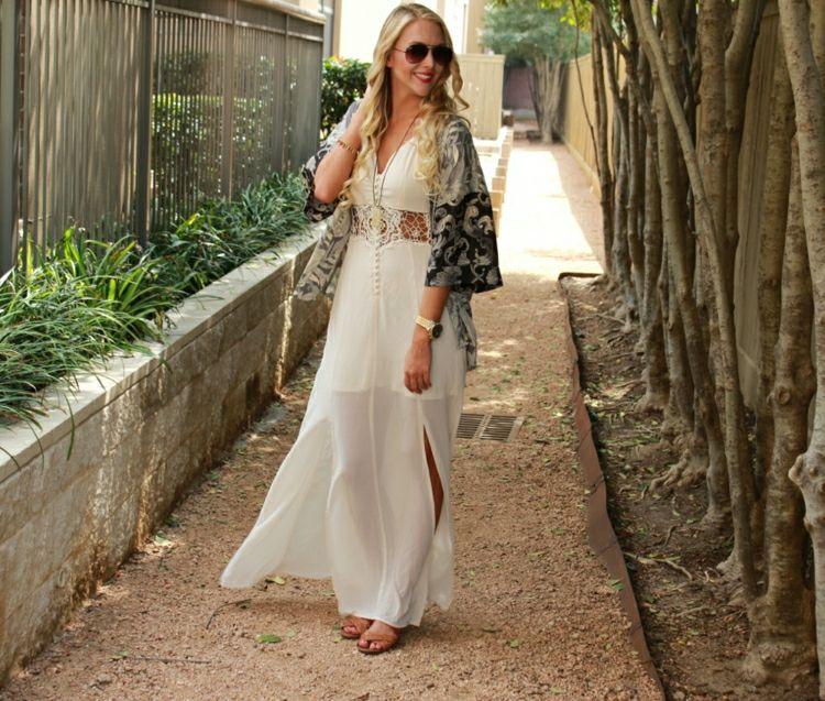 Kimono-nähen-Maxikleid-romantisch-Sommermode   Fashion Kimono ... 431960dc63
