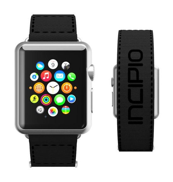 Jacquard Stitch In Black Black Available For Apple Watch 1 And 2 In Sizes 38mm 42mm Apple Watch Apple Watch Series 2 Apple Watch Accessories