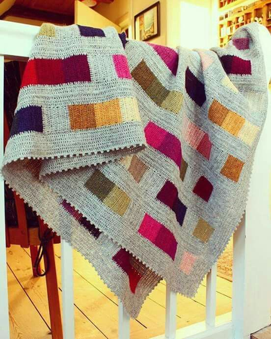 Örgü battaniye | Crochet | Pinterest | Decken, Square und Häkeln