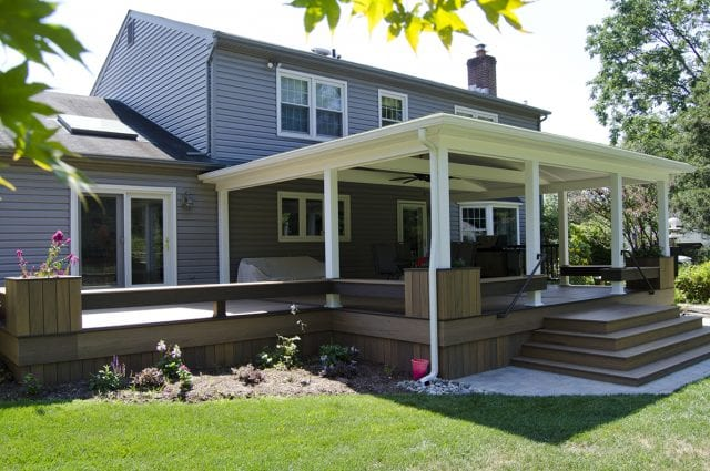 Custom TimberTech Deck/Porch, North Wales PA #northwales