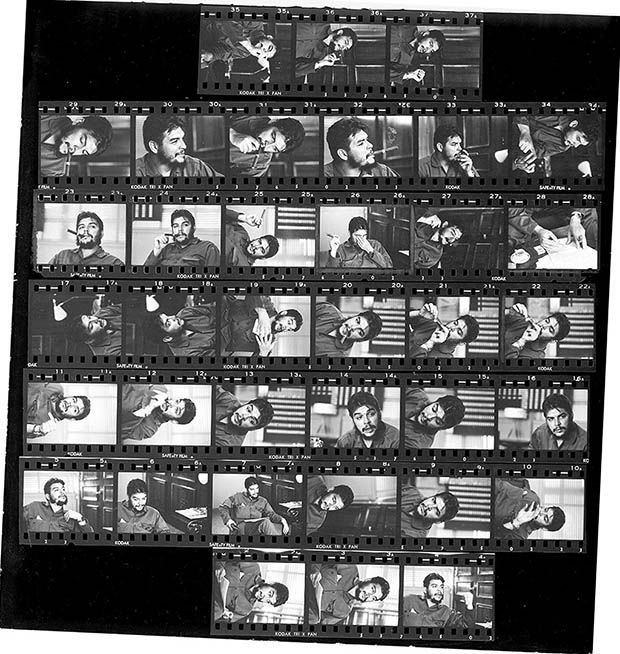 René Burriu0027s Contact Sheet That Led to an Iconic Photo of Che - würmer in der küche