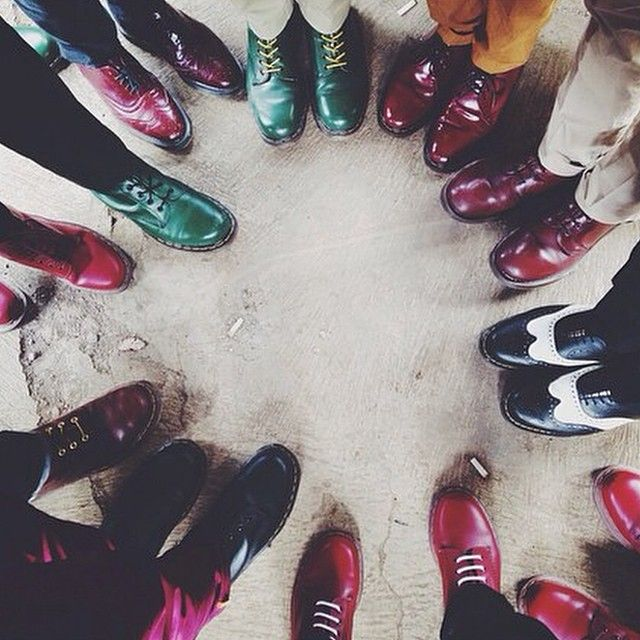 A group of Dr. Martens