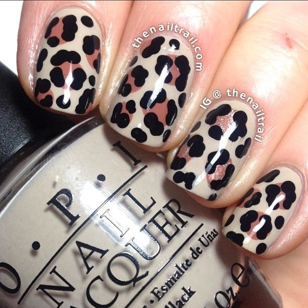 20 Fabulous Leopard Nail Art Designs for Women - Pretty Designs - 20 Fabulous Leopard Nail Art Designs For Women Leopard Nail Art