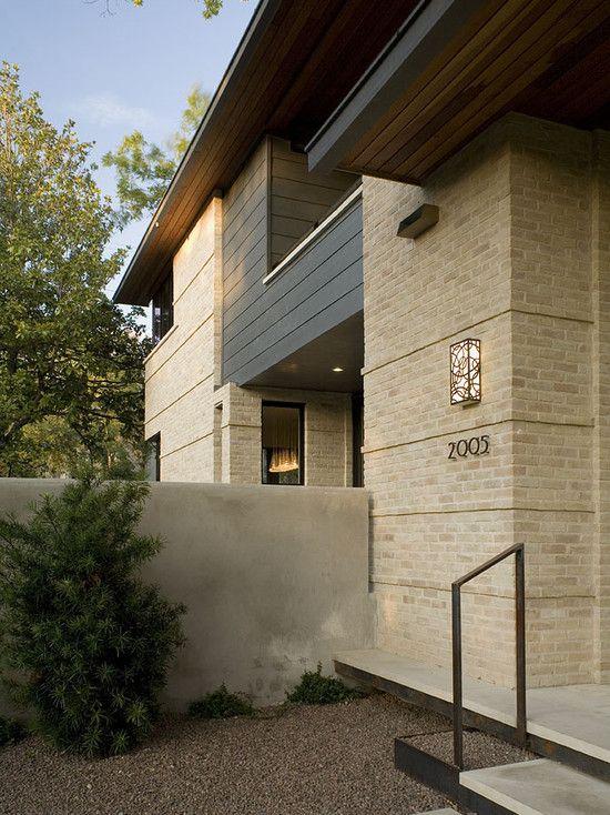 Exterior with blonde brick exterior brick apartment design - Apartment exterior color schemes ...