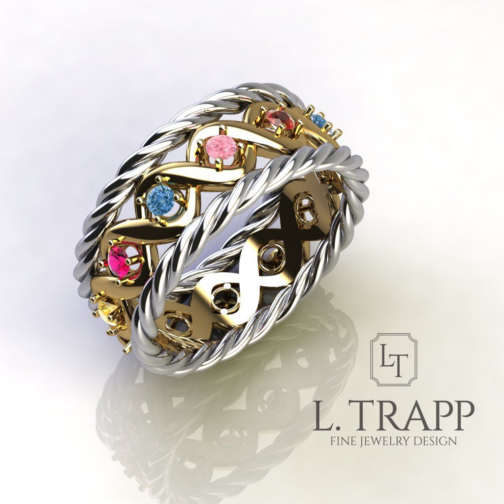 Colored Stone Ring Engagement Ring Wedding Rings for