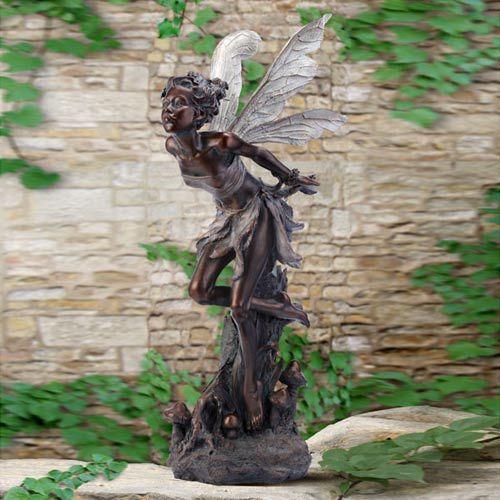 Bronze Fairy Statue For The Garden Fairy Statues Large Fairy Garden Dragon Garden